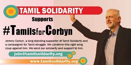Tamil Solidarity supports Corbyn's bold policies