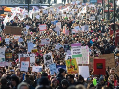 Millions of people protest against Trump on his inauguration day