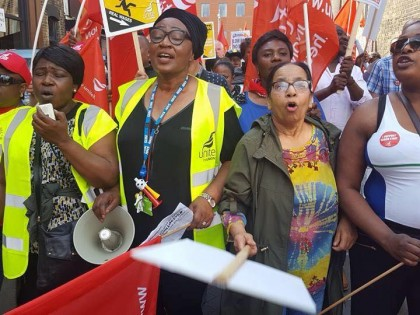 Tamil Solidarity Supports workers striking against Low Pay at Barts Trust Unite the Union branch