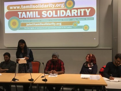 Tamil Solidarity AGM – 13th – Sunday