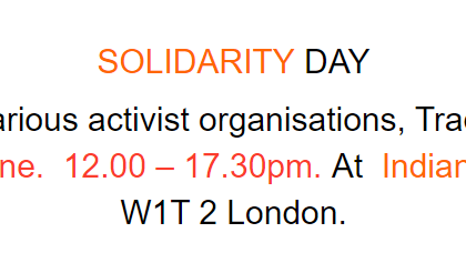Solidarity Day 2018 – to be held on 16th June