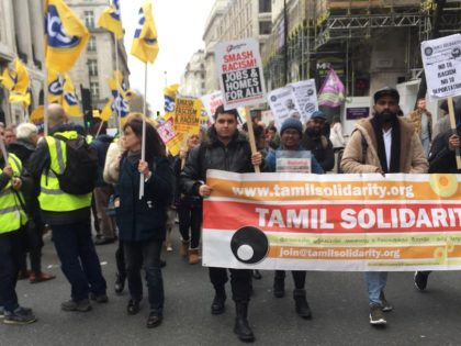 Tamil Solidarity joins anti-racism march
